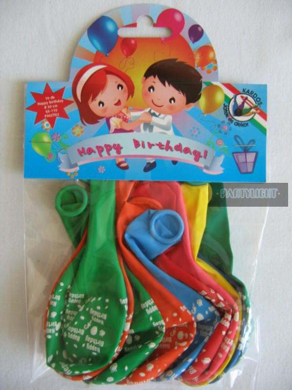 Happy Birthday latex lufi 30cm vegyes színek - Világító partikellékek 7edb6c2f72