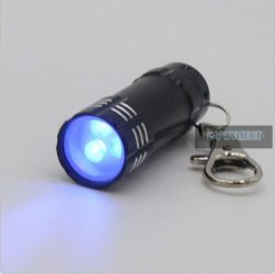 UV kulcstartós elemlámpa 3 ledes