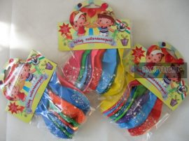 Boldog születésnapot latex lufi 30cm vegyes színek