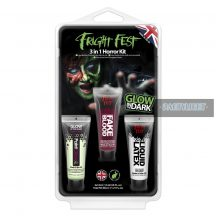 Glow in the dark 3 in 1 Horror szett