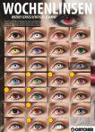 1 hetes színes kontaktlencse