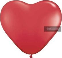 Piros szív alakú lufi 25 cm