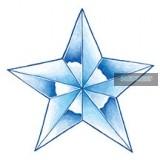 Glow Star Tattoo 7,5 x 7,5 cm