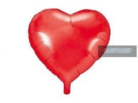 Szív alakú fólia lufi piros (45 cm)