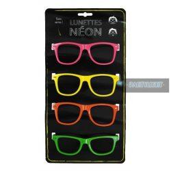 Neon szemüveg keret 4 db