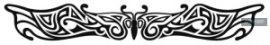 Glow Tattoo Butterfly Armband   23 x 4 cm