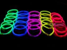 Világító karkötő 100db egyszínű